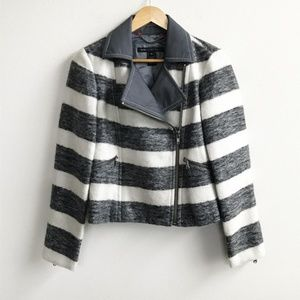 Marc by Marc Jacobs : Gray White Stripe Jacket NWT